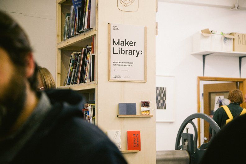 Library at East London Printmakers  Image by Barbora Mrazkova