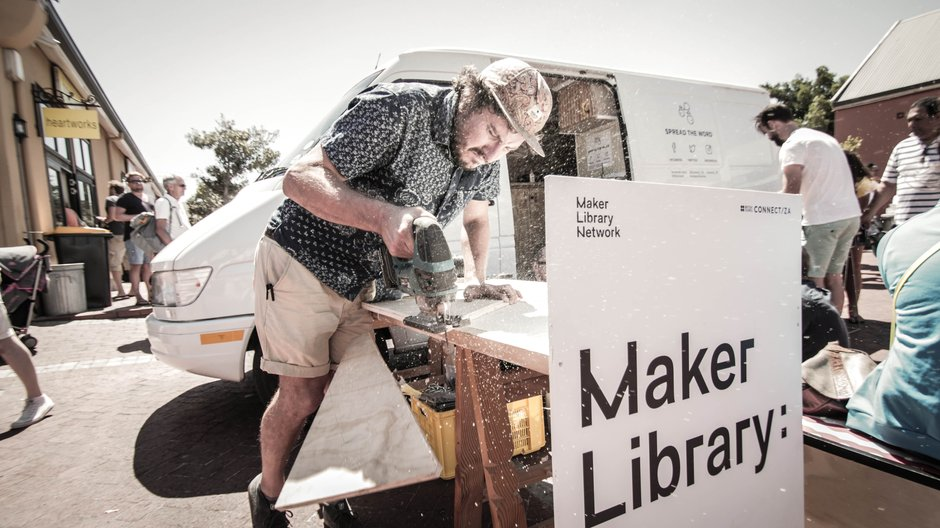 Marc Nicolson and the Mobile Maker Library  Keziah Suskin