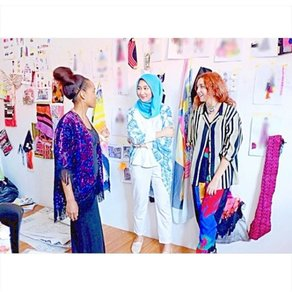 Dian Pelangi x London College of Fashion Residency © Nelly Rose Stewart and Odette Steele