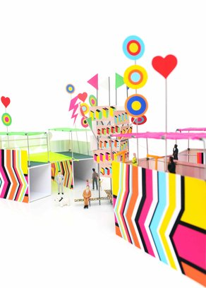 Superstructure: Stockholm Culture Festival 2015 Superstructure by Morag Myerscough and Luke Morgan for the Stockholm Culture Festival 2015