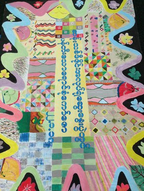 Textiles and Teaching Methods: Plymouth College of Art in Myanmar Co-design carpet. Photograph by Paul Singleton