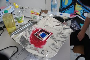 Seetal Solanki at Beirut Design Week  Bioplastics workshop. Photo by Seetal Solanki