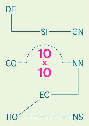 Design Connections 10x10 2015 Design Connections / 10x10 graphics by Julia
