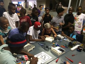 MLN at the first Maker Faire Africa in Johannesburg Thingking