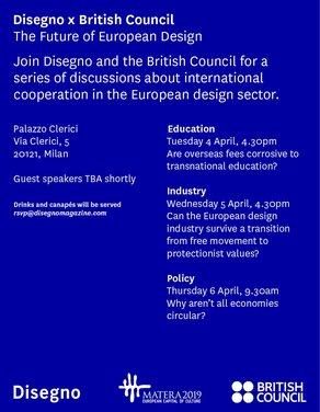 Disegno and British Council at Salone del Mobile, Milan © Disegno