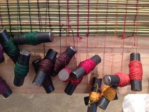 I AM U at 75 Harrington Project: Traditional Sleeping Mat Loom  Ella Reynolds
