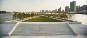 Louis Kahn: The Power of Architecture exhibition Franklin D. Roosevelt Four Freedoms Park; Photo Paul Warchol