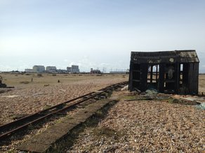 Longshore Drift: Dungeness Shacks in decay in Dungeness / photo by Joel Mills