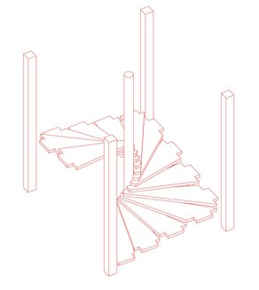 Lina Bo Bardi Fellowship event: 1st May 2015 Diagram for prototype of Solar do Unhão staircase by Laura Smith