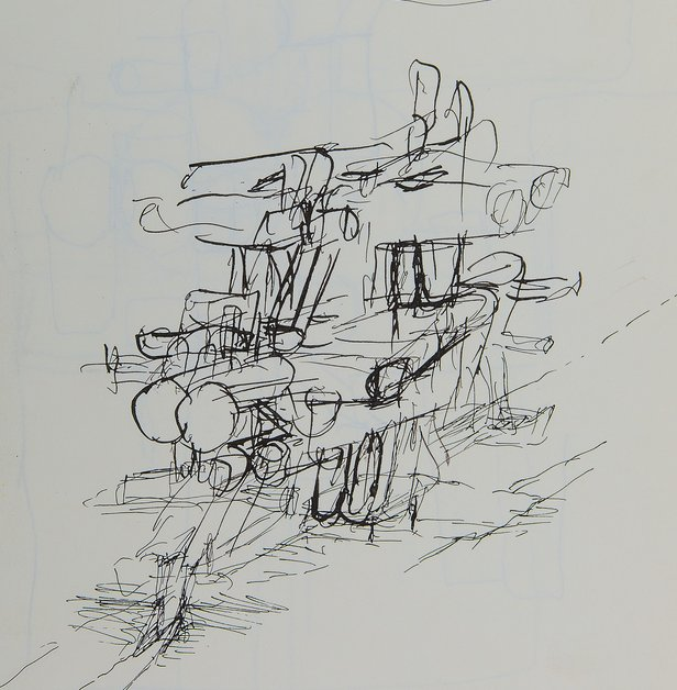 Drawing Matter Summer Workshop Walter Pichler (1936-2012), Study sketch, untitled. Pen and ink on wove paper, 279 x 235 mm