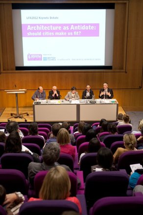 Architecture as Antidote: Should Cities make us fit? LAF 2012 Debate Photo by Agnese Sanvito
