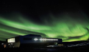 Ice Lab Opens at Manchester Science Festival Bharati Research Station by bof Architekten/IMS. Image Courtesy of National Centre for Antarctic and Ocean Research
