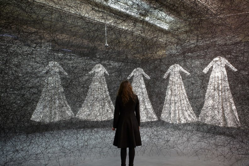 Lost in Lace Lost in Lace. Photo by Chiharu Shiota