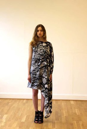 Fashion Road: A Journey Beginning Geannine Pollazzon, Tree Silk Dress, Autumn/Winter 2011