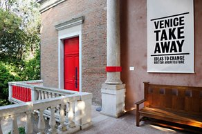 Red Tape: The Enemy of Architecture? Risk and Responsibility Installation at the British Pavilion, Venice Biennale 2012  Photograph by Christiano Corte