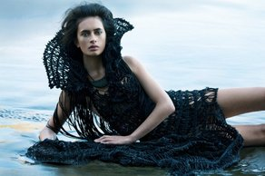 IFS: Te Aria - New Zealand Fashion Showcase Designer Kiri Nathan. Photograph by David K. Shields.