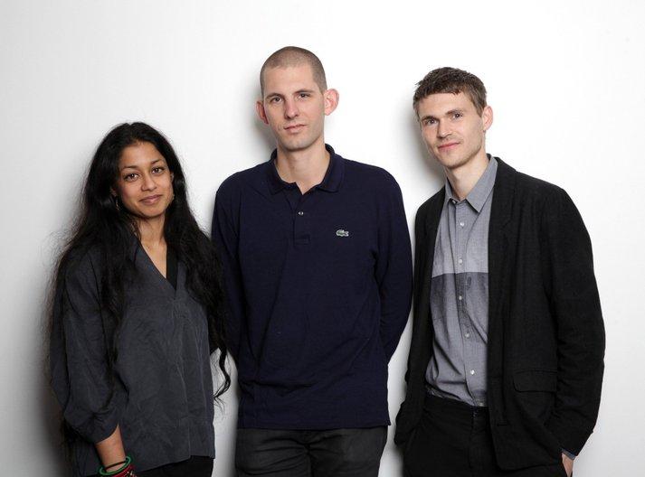 Winning proposal for British Pavilion  2016 Curatorial Team, British Pavillion (L-R) Shumi Bose, Jack Self, Finn Williams © James O Jenkins