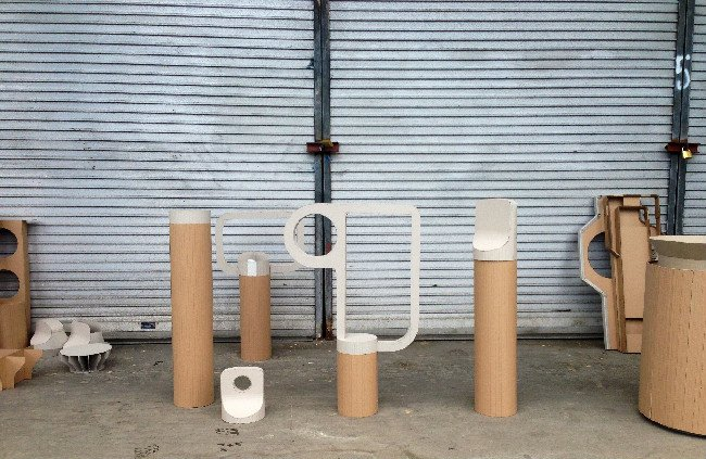 Fabien Cappello's Streetscape   Fabien Cappello: Streetscape 2015 cardboard prototypes. Image Fabien Cappello