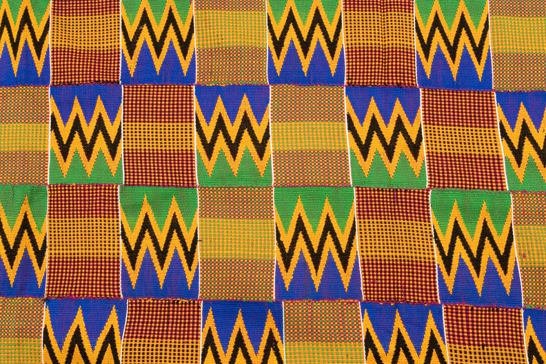 Creating African Fashion Histories Conference © Kente cloth from Ghana