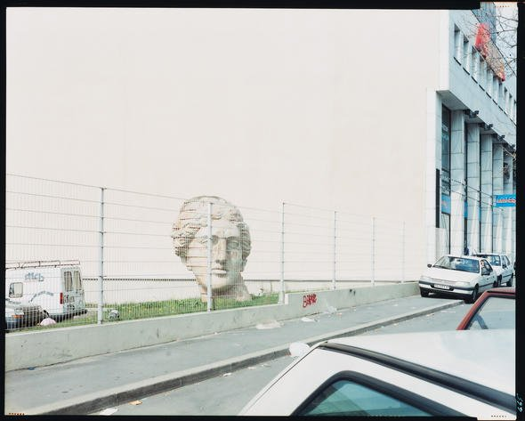 "Canadian Centre for Architecture: Emerging Curator Programme 2016 Guido Guidi, photographer. St-Denis, France, from the series ""In Between Cities,"" April 1996. Chromogenic colour print, 20.2 x 25.3 cm. CCA Collection. PH2003:0096 © Guido Guidi"