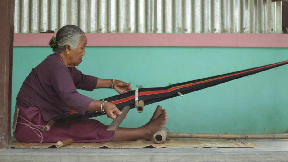 Research: Crafting Futures India  Weaver in Tripura. Photograph by Storyloom Films.