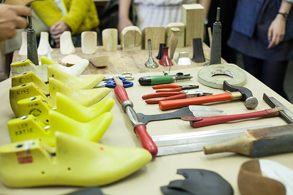 London College of Fashion Maker Library at London Craft Week: Saturday 9 May 2015 LCF technician Gee Wee's workshop. Photographer Simonas Berukstis