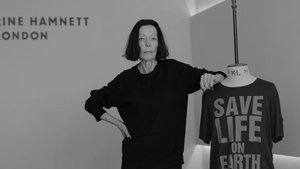 Fashion Revolution Week: Katharine Hamnett,