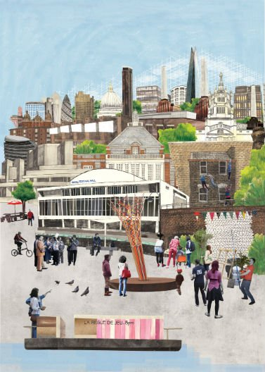 Be Part of the London Festival of Architecture London Festival of Architecture 2013. Illustration by Lucy Dazell.