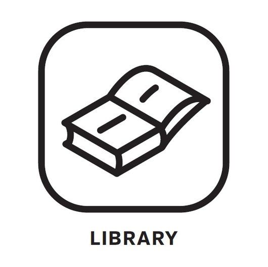 GRAS' Book Selection  MLN Library Icon by Koby Barhad
