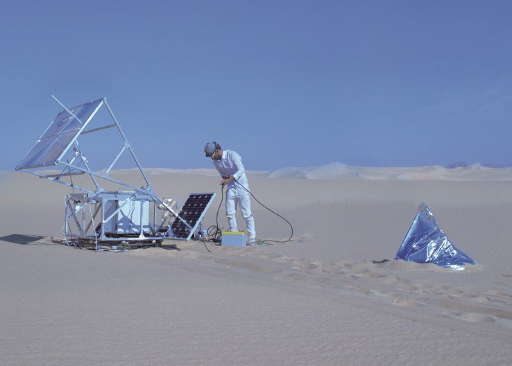 Everything Forever Now Solar Sinter in the Saharan desert near Siwa, Egypt, Photo by Amos Field Reid