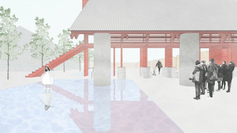 Events at the London Festival of Architecture New Horizons Red Pavilion. Image courtesy of TAKA, Clancy Moore and Steve Larkin Architects.