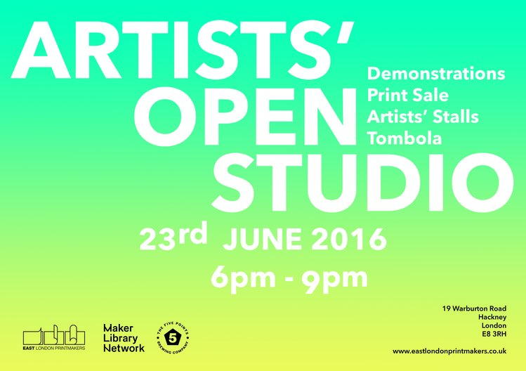 Open Studios at East London Printmakers