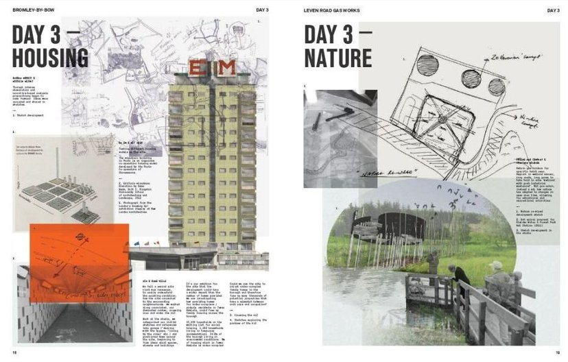 Publication: Possible Futures - 7 Days in Poplar  Inside spread from Possible Futures: 7 Days in Poplar