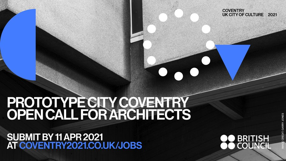 Opportunity: Prototype City Coventry Close-up of modernist architecture in Coventry. Image credit: Garry Jones, commissioned by Coventry UK City of Culture 2021