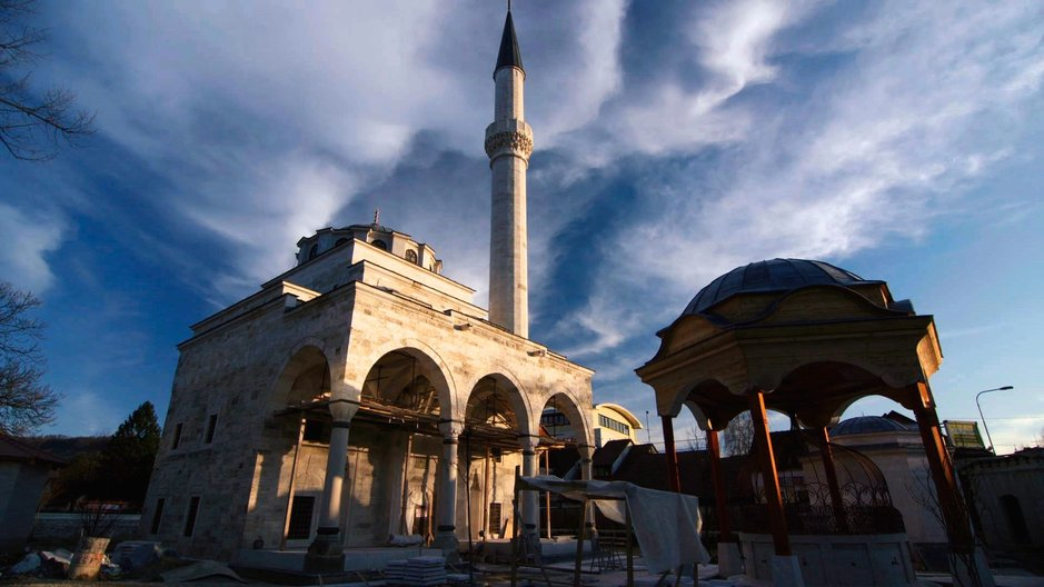 Talk: Memory & Authenticity at the V&A Rebuilding of Ferhadija Mosque, Banja Luka, Bosnia & Herzegovina Image: Derek Wiesehahn © 2016 Vast Productions USA