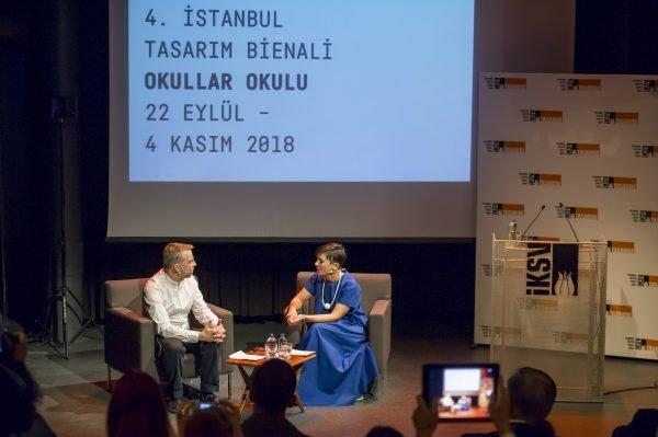 4th Istanbul Design Biennial: Open Call Curator Jan Boelen and Director Deniz Ova launch the Fourth Istanbul Design Biennial. Photo by Ilgin Erarslan Yanmaz