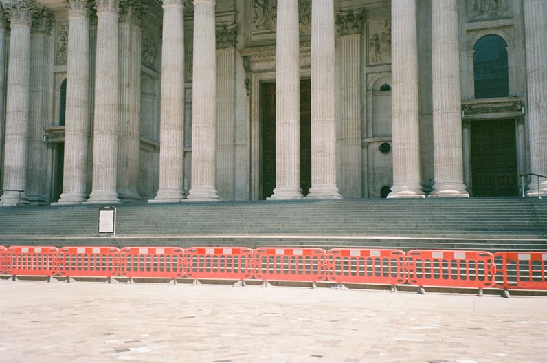 ADF Selects: Public Space A cordoned off St Paul's Cathedral during April lockdown.