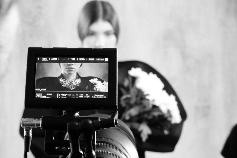 New Russian Fashion in Film Event  Georgy Rushev fashion film shoot backstage