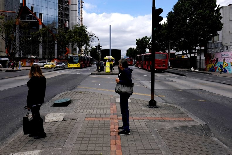 Avenida Caracas - Just One of The Many Polluted Multi-Lane Highways in Bogota Cutting Accross the City © Dominic Oliver Dudley