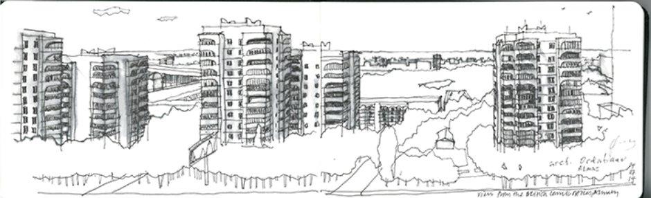 Almaty Skyline  Atomik Architecture