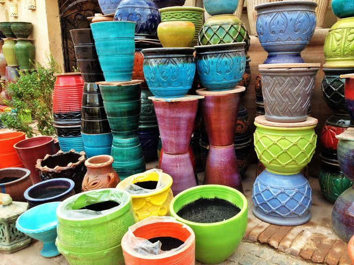 Traditional Darb pottery in Cairo