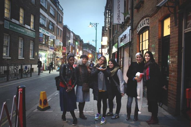 The group in London