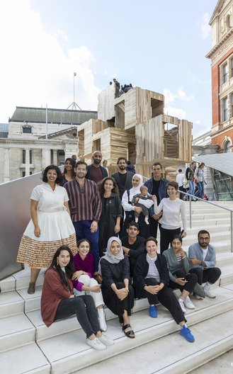 The participants of the V&A Designers' Workshop: Focus on the Gulf 2018 Victoria and Albert Museum