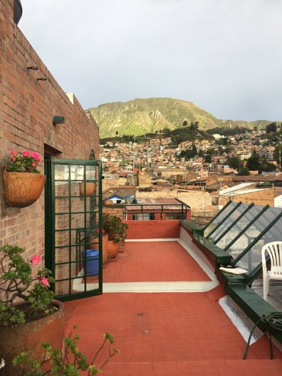 View to the hills from Señora Rodriguez' terrace, Nueva Santafé © Freya Cobbin