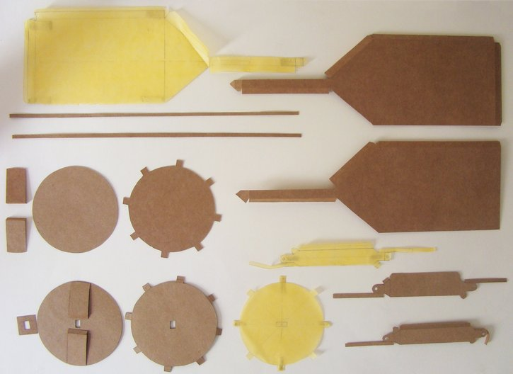 Paper model pieces ready to assemble © Laura Georgina Smith