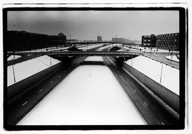 Joy Division, Hulme, Manchester, 6 January 1979 ©  Kevin Cummins