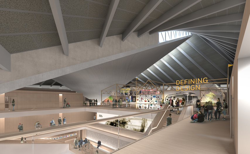 Render of the Design Museum Alex Morris Visualisation