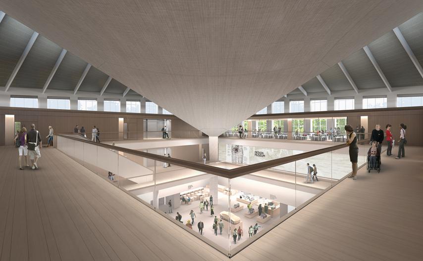 Render of the Design Museum Alex Morris Visualisation