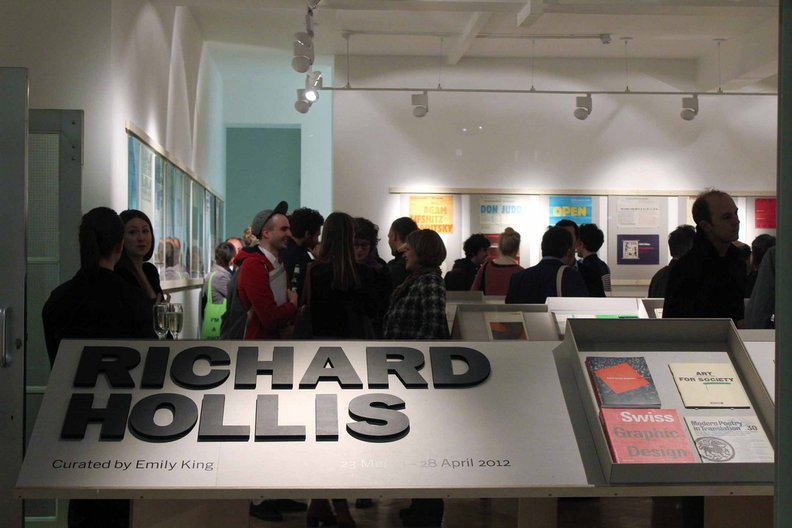 Richard Hollis exhibition opening at Gallery Libby Sellers. Photo: Alice Masters