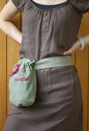 Belt and pocket. Photo courtesy Florie Salnot